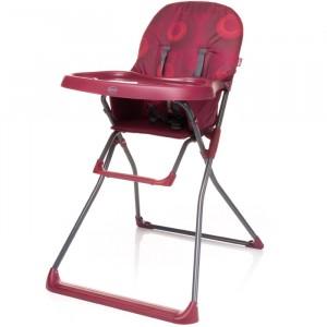 Krzesełko do karmienia Flower XVI Dark Red Czerwone