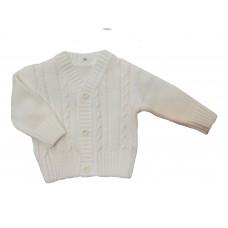 Sweterek rozpinany  biały  dla chłopca