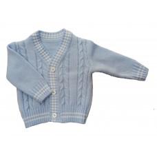 Sweterek rozpinany  niebieski  dla chłopca