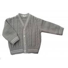 Sweterek rozpinany  szary  dla chłopca