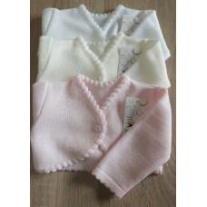 Sweterek bolerko gładkie ekri