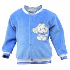 Bluza welurowa  słonik   niebieska