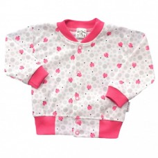 Bluza niemowlęca bawełniana biedronki