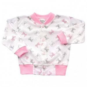 Bluza niemowlęca bawełniana kokardki