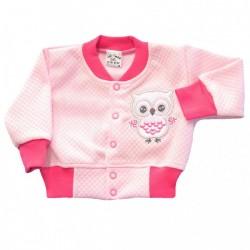 Bluza niemowlęca sówka różowa