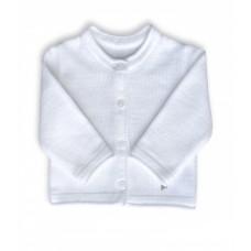 Sweterek rozpinany biały