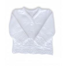 Sweterek ażurkowy rozpinany  biały