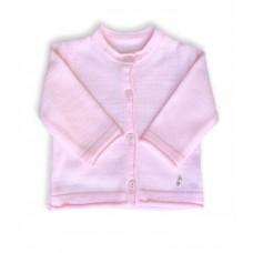 Sweterek rozpinany różowy