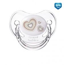 Smoczek uspokajający silikonowy anatomiczny + 18 m Newborn ekri