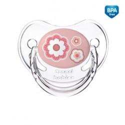Smoczek uspokajający silikonowy anatomiczny 6-18 mm Newborn różowy