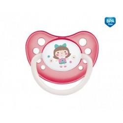 Smoczek uspokajający silikonowy anatomiczny 0-6m Toys różowy