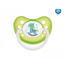 Smoczek uspokajający silikonowy anatomiczny  18 + m Toys zielony