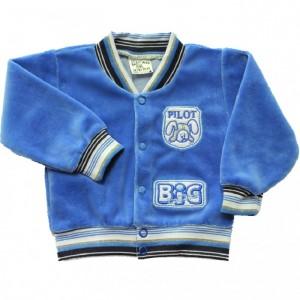 Bluza welurowa  ciemno niebieska