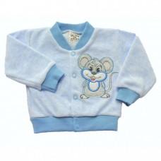 Bluza welurowa myszka  niebieska