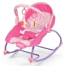 Leżaczek niemowlęcy różowy  9-18KG