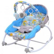 Leżaczek niemowlęcy  szary z niebieskim  9-18KG