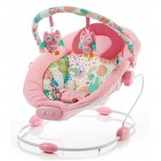 Leżaczek niemowlęcy  różowy  0-9 KG