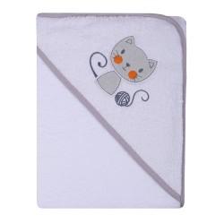 Ręcznik Okrycie kąpielowe 80 x 80   biały