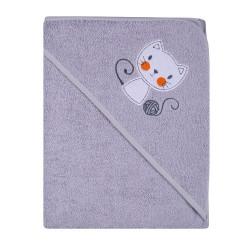 Ręcznik Okrycie kąpielowe 100 x 100  szary