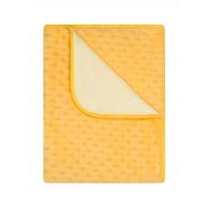 kocyk podwójny minky 80 x 90 cm  żółty