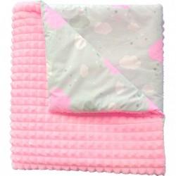 Kocyk kostka  różowy