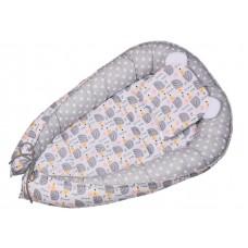 Kokon niemowlęcy 80 x 50  szare jeżyki