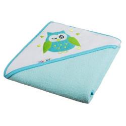 Ręcznik okrycie kąpielowe z kapturkiem 80 x 80 cm turkusowe