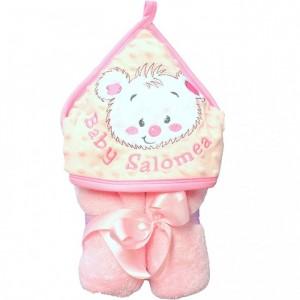 Ręcznik minky różowy prezentowy