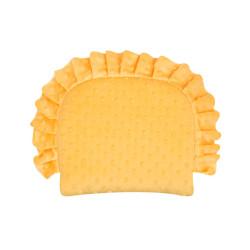 Poduszka minky z falbanką żółta