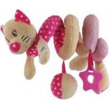 Przywieszka z zabawkami  spiralka kotek