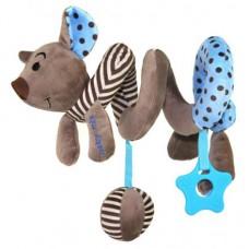 Przywieszka z zabawkami  spiralka myszka  niebieska