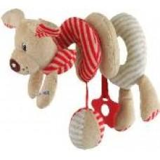 Przywieszka z zabawkami  spiralka piesek