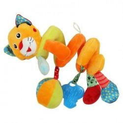 Przywieszka z zabawkami  spiralka tygrysek