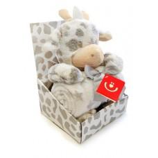 Zestaw upominkowy Zabawka Żyrafa + kocyk
