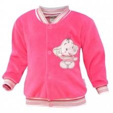 Bluza welurowa  słonik   różowa