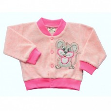 Bluza welurowa myszka  różowa