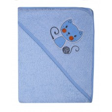 Ręcznik Okrycie kąpielowe 100 x 100 niebieskie