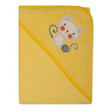 Ręcznik Okrycie kąpielowe 100 x 100  żółty