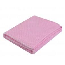 Kocyk soft jaquard 80 x 90 różowy