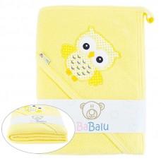 Ręcznik okrycie kąpielowe Sówka 100 x 100  żółte