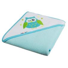 Ręcznik okrycie kąpielowe z kapturkiem 100 x 100  cm turkusowe