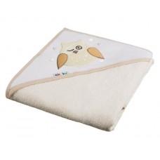 Ręcznik okrycie kąpielowe z kapturkiem 100 x 100  ekri