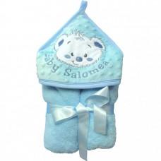 Ręcznik minky  niebieski  prezentowy
