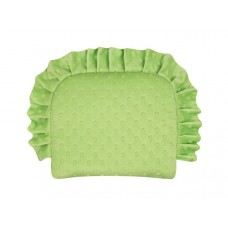 Poduszka minky z falbanką zielona