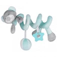 Przywieszka z zabawkami  spiralka miś miętowy