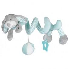Przywieszka z zabawkami  spiralka piesek miętowy